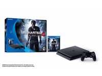 Playstation 4 Slim & Uncharted 4: A Thief's End - 500 GB Brand New Never Opened