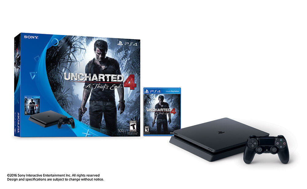 Playstation 4 - Sony 3001504 PlayStation 4 Slim 500GB Uncharted 4 Bundle!  OPEN BOX NEW!