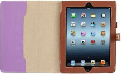 Griffin BackBay Elan Folio Stand Lavender/Brown Leather Case for Apple for iPad Griffin Elan Folio