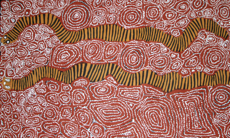 Aboriginal Painting by George Ward Tjungurrayi from Australia  - Famous Artist!