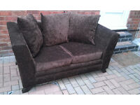Two seater sofas brown - great condition.