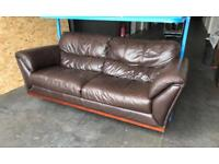 DFS Huge Brown leather sofa Can deliver
