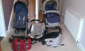 Concord Travel System, McLaren Buggy and Large Changing Bag