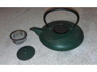 genuines japanese teapot cat iron