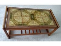 Tiled Top Wooden Coffee Table
