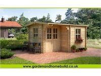 garden office, summer house, log cabin, play room, workshop, storage, garden room