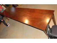 A BOARDROOM style table. length 343 cms Height 76cms Width 76cm.