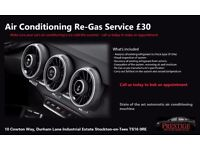 Car Air Conditioning Re-Gas Recharge Service North East Middlesbrough Yarm Darlington Stockton