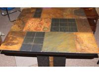 Stone slate Pedastal table