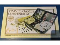 Travel games set. New.