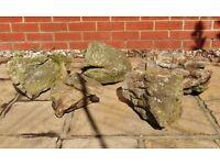 5 Large Decorative Garden Rocks for Rockery, Ponds / Water Features Garden Decoration