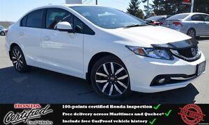 2013 Honda Civic Touring, Navigation, Backup Camera, One Owner !