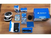 Playstation VR, 2 Games, 2 Motion Controllers, All Cables