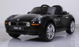 Licensed BMW Z8 12V Child Ride On Car w Leather Seat, 2.4Ghz Remote, Doors, Music, MP3 Audio Input, Led Lights, more