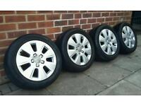 "Audi A3 16"" alloy wheels and matching Avon ZZ3 tyres! 5x112"