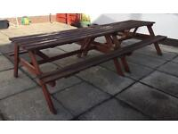 Wooden picnic tables x2