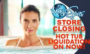 Store Close Out On Now At World of Spas! Get In Today For Best Selection! Everything Marked Down To Move!
