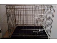 Animal Folding Cage/Crate For Sale - With Tray and Two Doors.