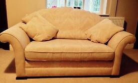Two seater sofa and cushions