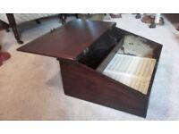 antique oak writing chest slope box