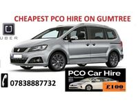 HIRE PCO UBER CAR READY UBER MINICAB PRIUS MERCEDES GALAXY INSIGHT FROM £90 CHEAPEST ON GUMTREE