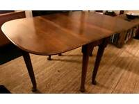 CAN DELIVER Vintage solid oak gate leg table with cabriole feet