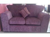 NEW Lovely Two Seater Sofa in Plum Fabric