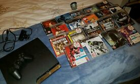 Sony PS3 + Controller + 19 Games