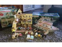 Sylvanian Families school, boat and figures £50