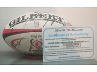 2012 / 2013 Ulster Rugby Team Squad Signed Autograph Gilbert Rugby Ball COA 4/12
