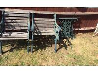 Cast iron garden furniture needs restoring
