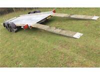 Car transporter trailer ramps ifor Williams Brian James Ivor flatbed tilt