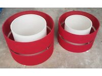 Red & Cream Dunelm Standard and Standing Light / Lamp Shades