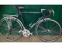 58 cm large frame Claud Butler racing race road city bike racer Reynolds 531 bicycle mudguards rack