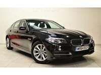 BMW 5 SERIES 2.0 520D SE 4d AUTO 188 BHP + 1 OWNER + SAT NAV + B/T + LEATHER (black) 2014