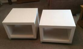 White Ikea coffee tables