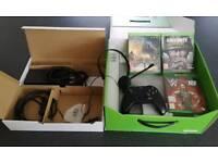Xbox One 500gb with 1 wireless controller, headset and W2K18 wrestling, COD WW2