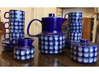 Retro Blue Coffee / Tea Set