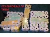 11 New Packs of 10 Till / Calculator / Adding Machine Rolls 110 in total Cash Register for Shop Home