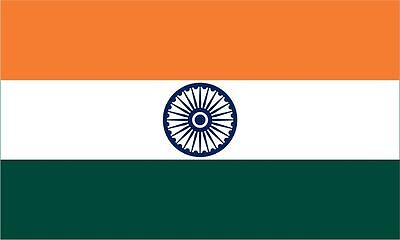 5 x 3 Feet India Indian National Large Cricket Fans Supporters Flag With Eyelets