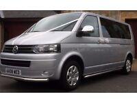 8 passenger vw mini bus hire chauffeur driven in north ayrshire