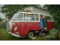 vw 1971 Bay window, cross over, Devon conversion campervan (NEW ENGINE)