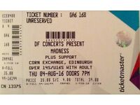 Madness Concert Edinburgh Corn Exchange 4th August 2016