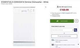 ESSENTIALS CDW45W18 SLIMLINE DISHWASHER WHITE