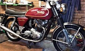 Norton Commando 750 1971 very rare drum brake model original UK spec