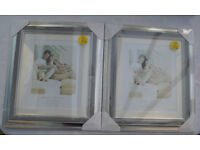 2 x Silver Colour Picture Frames - BRAND NEW