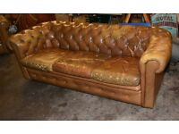 Chesterfield style three seater vintage antique sofa retro living room chair