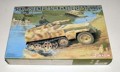 DRAGON 1/35 6102 Sd.Kfz.250/8 ''Neu'' 7.5cm KwK37L/24 model kit ▲▲