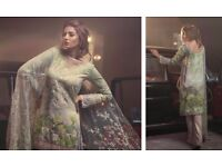 New Rungrez Inspired 3pcs Stitched Lawn Suit with Net Dupatta in M,L,XL Sizes