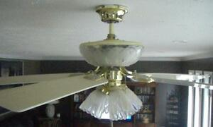Beautiful Ceiling Fan with Lights (Best Offer) Campbell River Comox Valley Area image 2